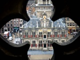 View of the Stadhuis in Delft from the Dom