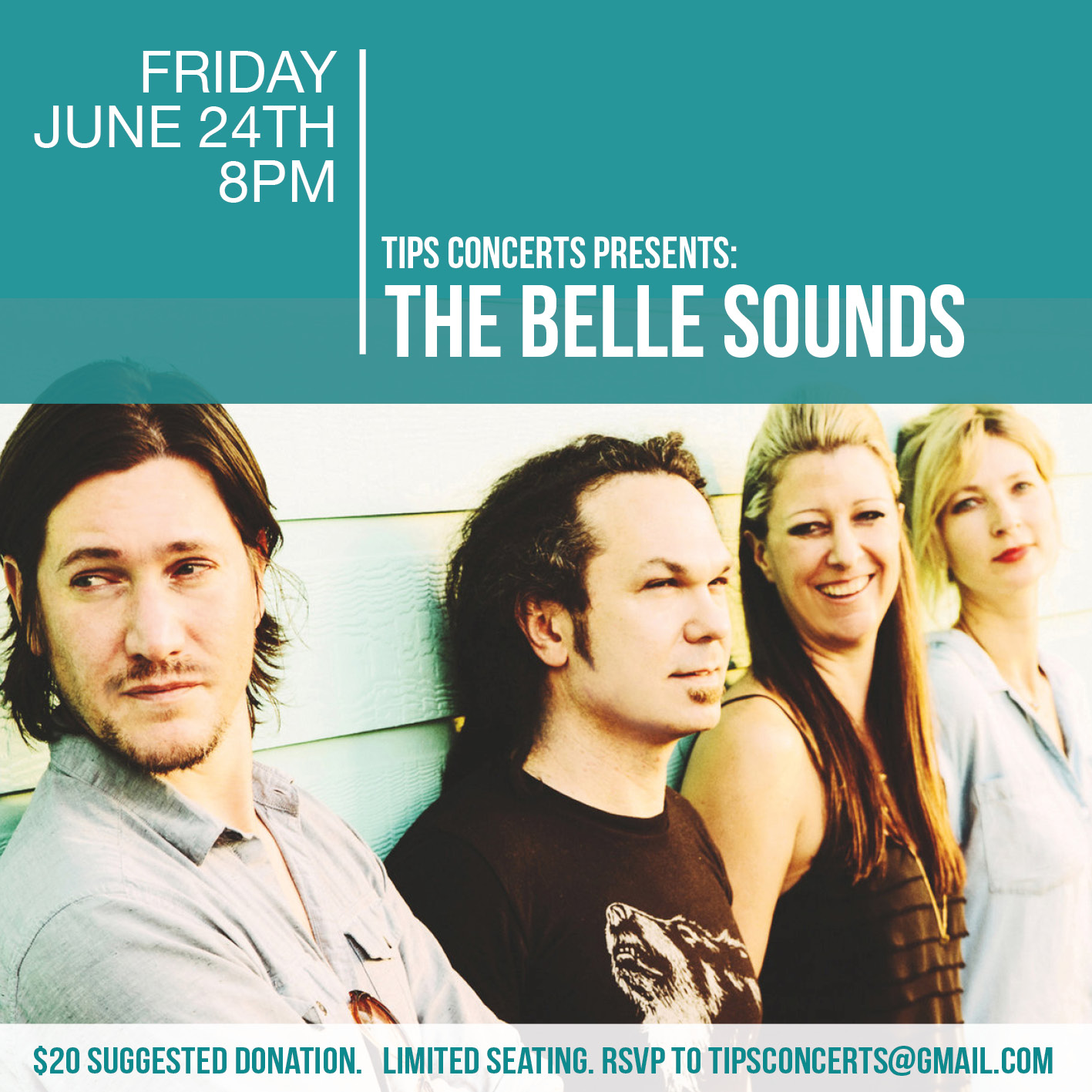 Love Letter: The Belle Sounds (we are hosting them at Tips