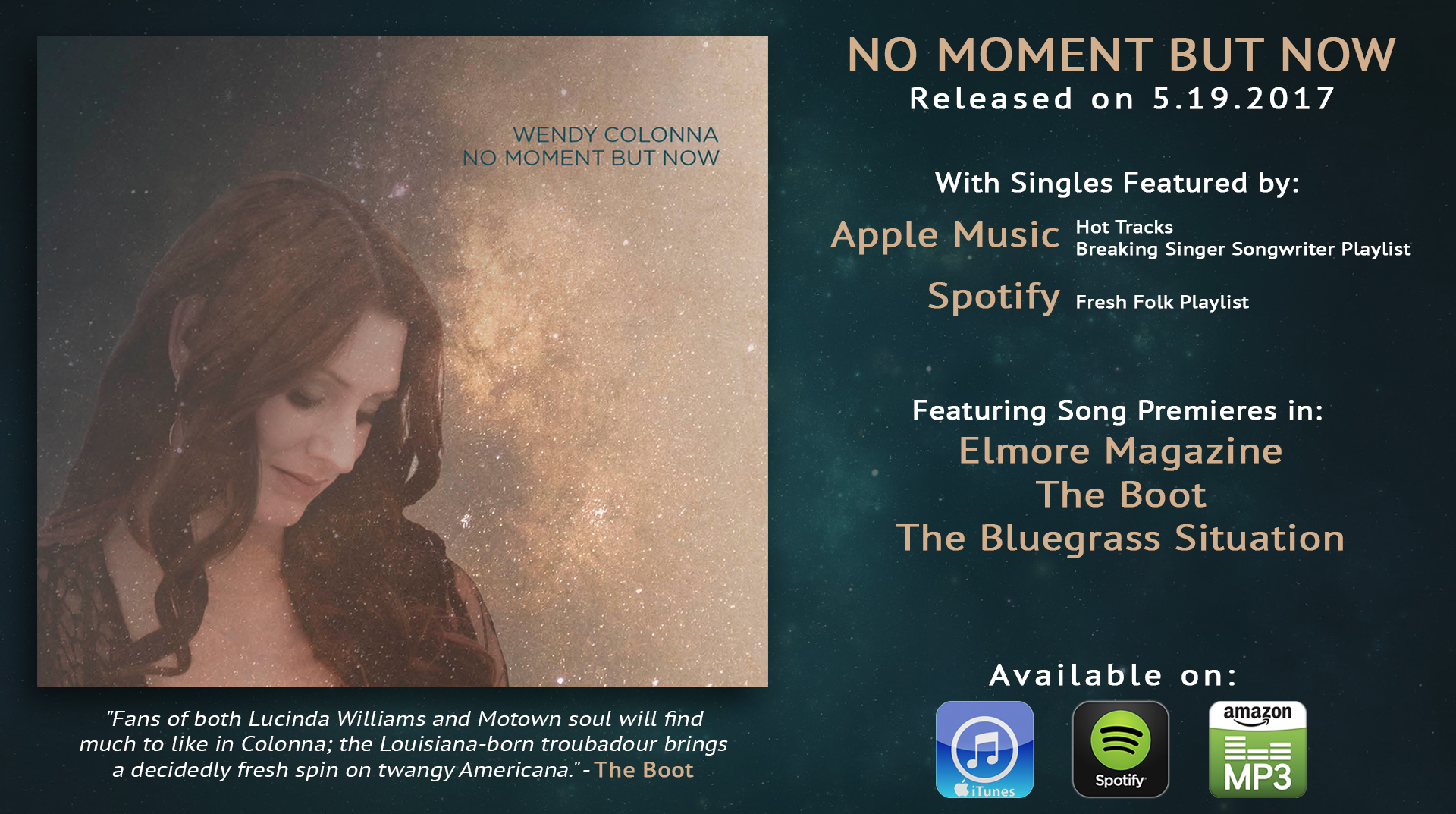 NO MOMENT BUT NOW Release