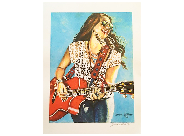 Autographed Print of Painting of Wendy by Norma Dewitt